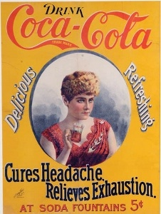 Coca-Cola collectibles, 1896 cameo