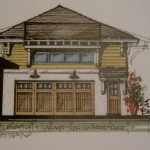 Beach House Remodel Concept B: Mid Cost Version: Ponte Vedre, Florida: West Indies Style: New Garage Elevation