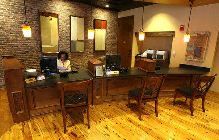 Portfolio: Commercial-Seaside Downtown Orlando: Teller Desk NEW, Susan Berry Designer