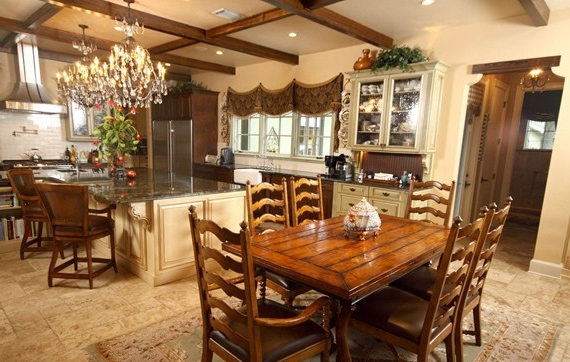 Kitchen Design: French Country Style Home, Orlando; Custom designed all cabinetry and layout.