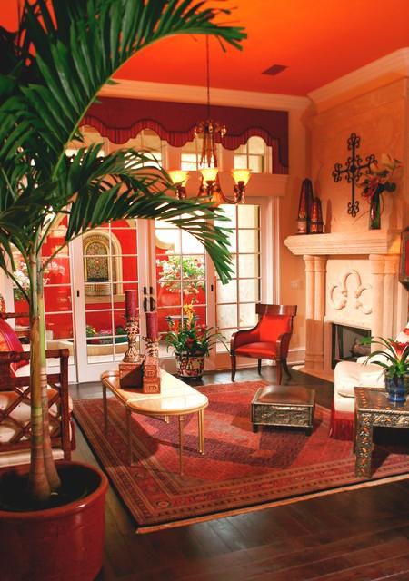 Sitting Rom & Fountain: Cinque Terra, Modern Florida Mediterranean Street of Dreams home, Interior Architectural Designer, Susan P, Berry