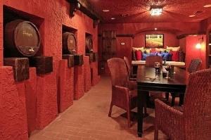 Wine Cellar: Cinque Terra, Modern Florida Mediterranean Street of Dreams home, Interior Architectural Designer, Susan P, Berry